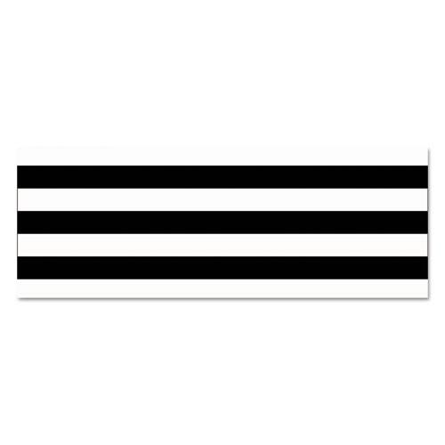 Straight Borders, 3 x 36 ft, Black/White, 12/Pack