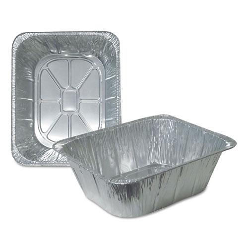 Aluminum Steam Table Pans, Half Size, Extra Deep, 100/Carton