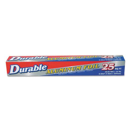 """Durable Packaging Standard Aluminum Foil Roll, 12"""" x 25 ft, 35/Carton"""