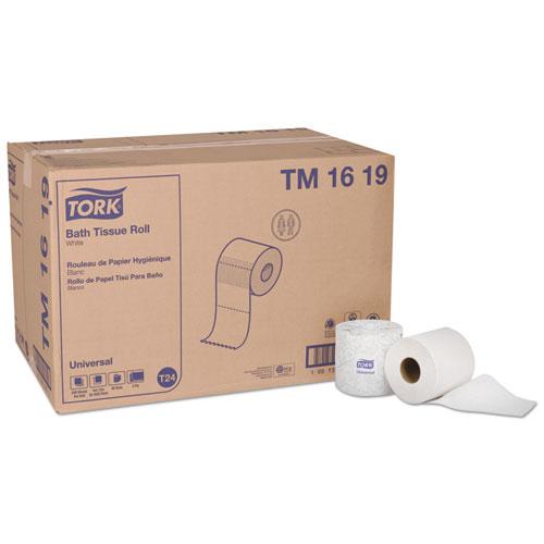 Tork® Universal Bath Tissue, Septic Safe, 1-Ply, White, 1000 Sheets/Roll, 96 Rolls/Carton