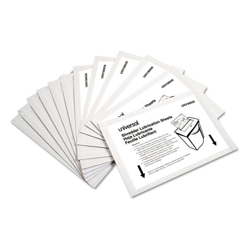 Shredder Lubricant Sheets, 5.5 x 2.8, 24/Pack