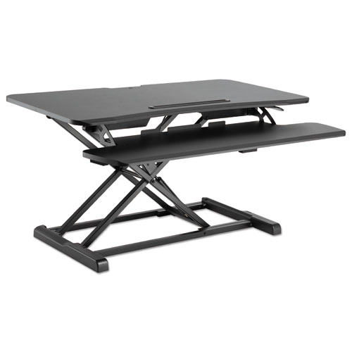 Alera® AdaptivErgo Sit-Stand Workstation, 37.38w x 26.13d x 19.88h, Black