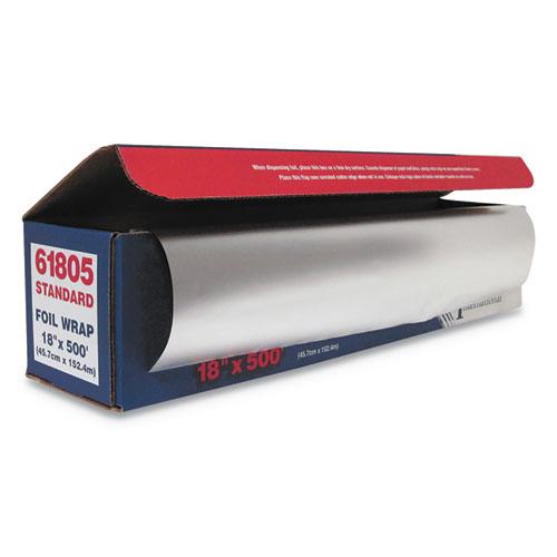 Standard Aluminum Foil Roll, 18 x 500 ft