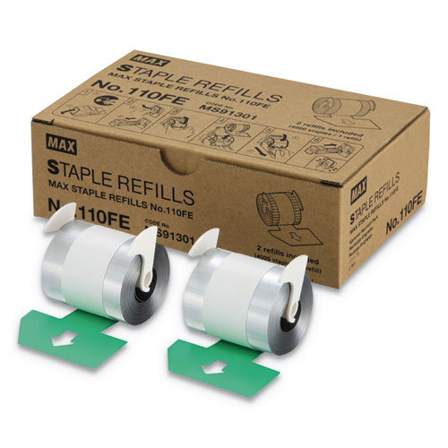Staple Refills No.110FE, 0.56 Leg, 0.5 Crown, Silver, 4,000/Cartridge, 2 Cartridges/Box, 8,000/Box