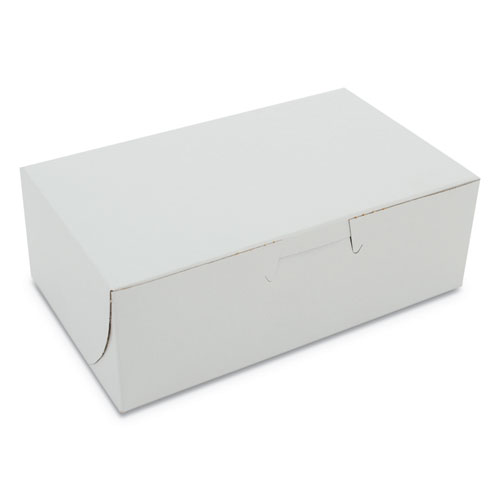 Bakery Boxes, 6 1/4w x 3 3/4d x 2 1/8h, White, 250 per Bundle