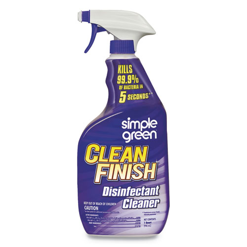 Simple Green® Clean Finish Disinfectant Cleaner, Herbal, 32 oz Spray Bottle, 12/Carton