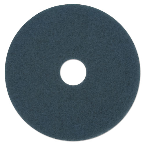 Scrubbing Floor Pads, 13 Diameter, Blue, 5/Carton