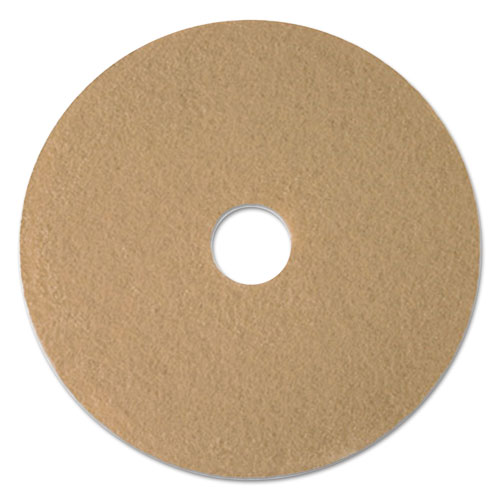 "Boardwalk® Tan Burnishing Floor Pads, 17"" Diameter, 5/Carton"