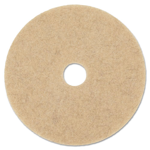 "Boardwalk® Natural Hog Hair Burnishing Floor Pads, 20"" Diameter, 5/Carton"