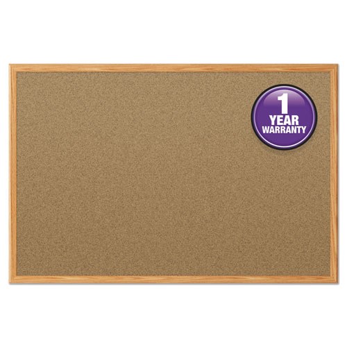 Cork Bulletin Board, 48 x 36, Oak Frame