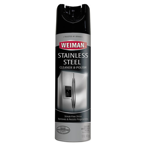 Stainless Steel Cleaner and Polish, 17 oz Aerosol, 6/Carton