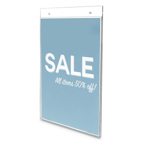 Classic Image Wall Sign Holder, 8 1/2 x 11, Clear Frame, 12/Pack