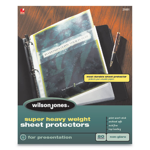 Top-Loading Super Heavy Sheet Protectors, Nonglare Finish, Letter, 50/Box