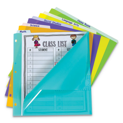 Index Dividers with Vertical Tab, 5-Tab, 11.5 x 10, Assorted, 1 Set