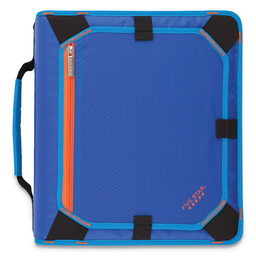 Zipper Binder and Expansion Panel, 3 Rings, 2 Capacity, 11 x 8.5, Blue