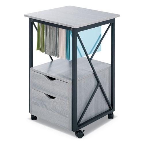 Mood Storage Pedestals, 17.75w x 17.75d x 30h, Gray