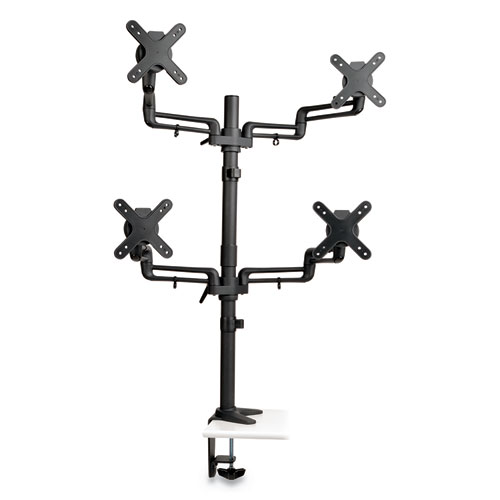 "Tripp Lite Quad Full Motion Flex Arm Desk Clamp for 13"" to 27"" Monitors, up to 22 lbs/Arm"