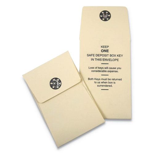 Nylon Vault Key-Hole Signals, 1-Key, 2 1/2 x 3 1/2, Sand, 250/Box