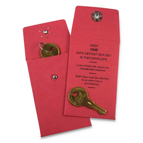 "SteelMaster® Nylon Vault Key-Hole Signals, 1-Key, 2 1/2"" x 3 1/2"", Red, 250/Box"