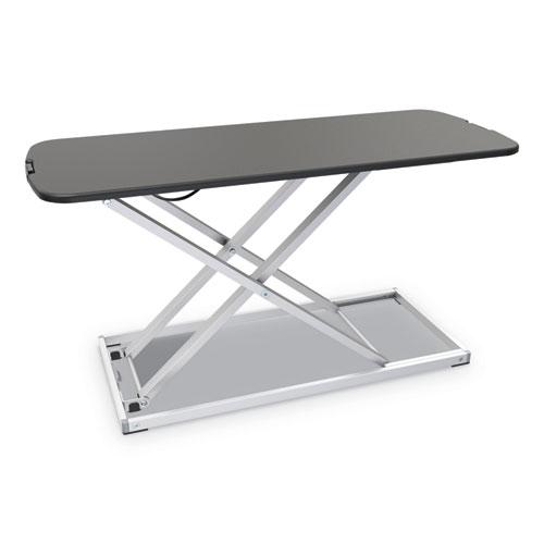 "Alera® AdaptivErgo Laptop Lifting Workstation, 31.25"" x 12.63"" x 1.38"" to 16"", Black/Silver"