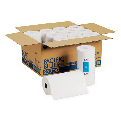 Pacific Blue Select Perforated Paper Towel 8 4 5x11 White 250 Roll 12 Rl Ct Stone Printing Office Supply