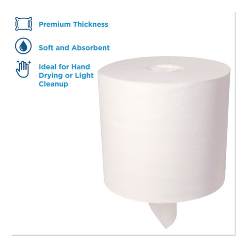 GPC28143 4 Rolls SofPull 28143 White Center-Pull Paper Towel Rolls