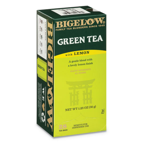 Green Tea with Lemon, Lemon, 0.34 lbs, 28/Box