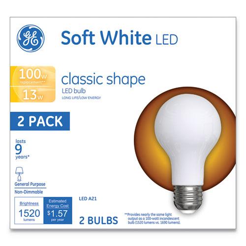Classic LED Soft White Non-Dim A21, 13 W, 2/Pack