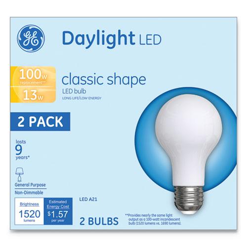 LED Classic Daylight A21 Light Bulb, 13 W, 2/Pack