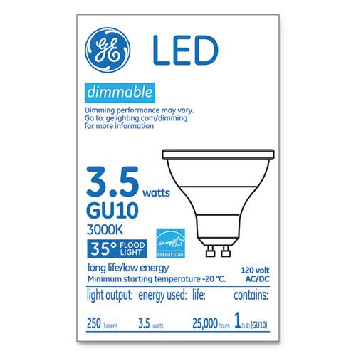 GE LED MR16 GU10 Dimmable Warm White Flood Light, 3000K, 3.7 W