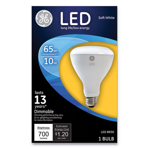 LED BR30 Dimmable Soft White Flood Light Bulb, 10 W