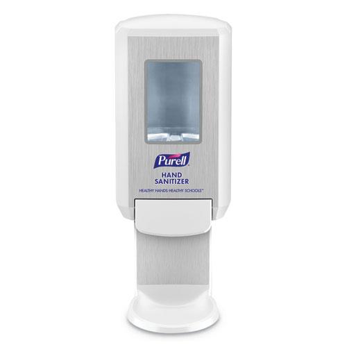 "PURELL® Education Dispenser, 1200 mL, 4.88"" x 8.19"" x 11.38"", White"