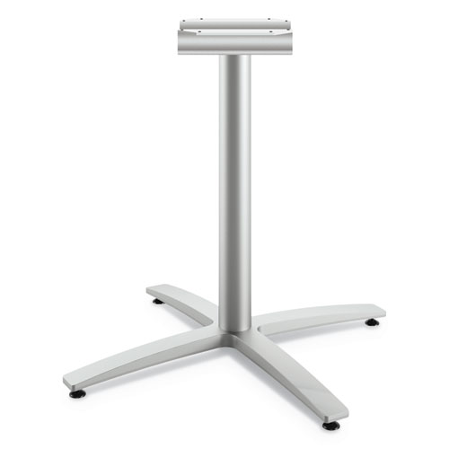 Between Seated-Height X-Base for 42 Table Tops, Silver