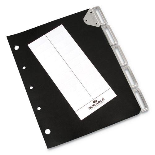 Catalog Rack Index, 5 Sections, Black
