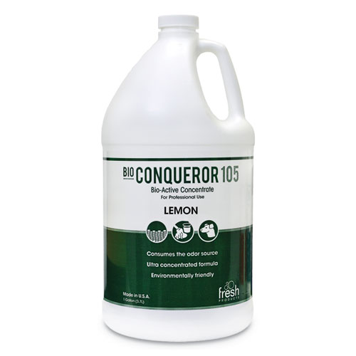 Bio Conqueror 105 Enzymatic Odor Counteractant Concentrate, Citrus, 128 oz, 4/Carton