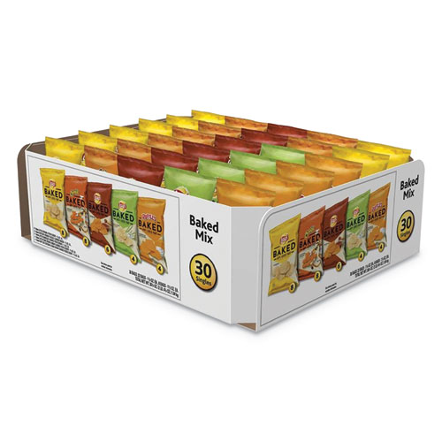 Frito-Lay Baked Variety Pack, BBQ/Cheddar & Sour Cream/Classic/Sour Cream & Onion, 30/Box