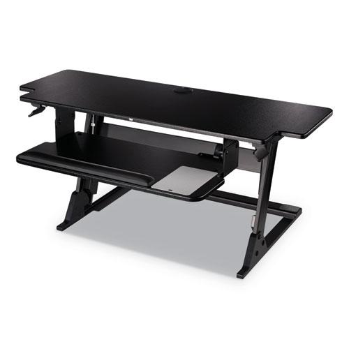"3M™ Precision Standing Desk, 42"" x 23.2"" x 6.2"" to 20"", Black"