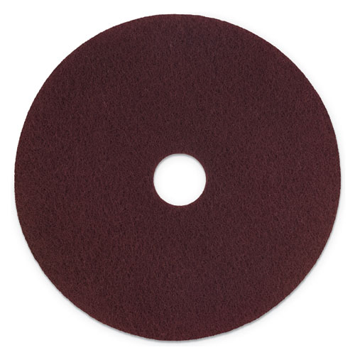 "Scotch-Brite™ Surface Preparation Pad Plus, 20"" Diameter, Maroon, 5/Carton"
