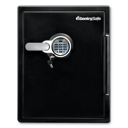 Fire-Safe with Biometric  Keypad Access, 2 cu ft, 18.6w x 19.3d x 23.8h, Black