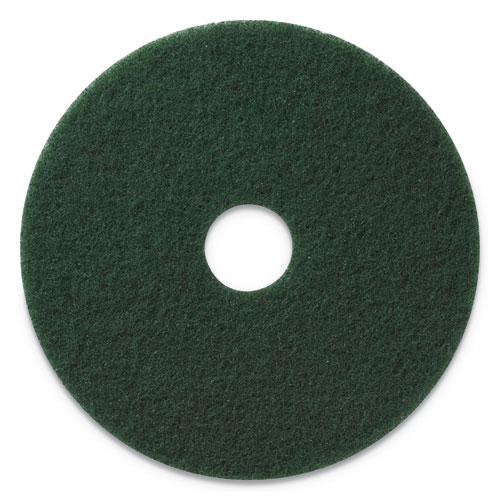 Scrubbing Pads, 20 Diameter, Green, 5/CT