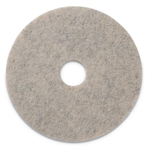 "Americo® Combo Burnishing Pads, 20"" Diameter, Tan, 5/CT"