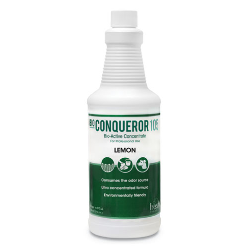 Bio Conqueror 105 Enzymatic Odor Counteractant Concentrate, Citrus, 32 oz, 12/Carton