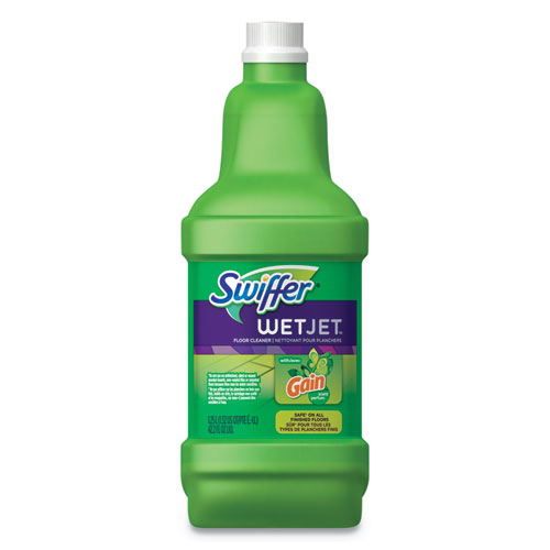 WetJet System Cleaning-Solution Refill, Original Scent, 1.25 L Bottle, 4/Carton