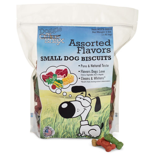 Doggie Biscuits, Assorted, 4 lb Bag