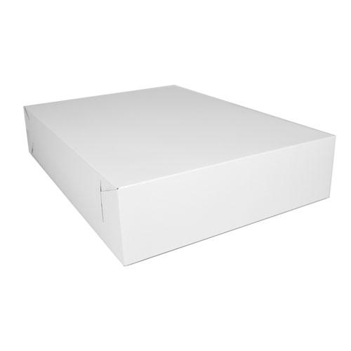 Non-Window Bakery Box, 19 1/2w x 14d x 4h, White, 50/Carton