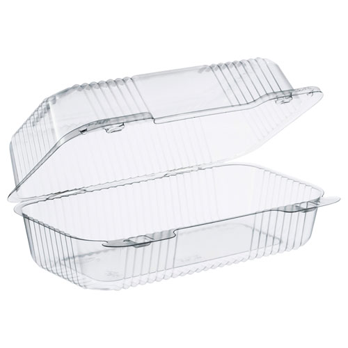 Dart® Staylock Clear Hinged Container, Plastic 5 3/10x5 3/5x2 4/5 Clear 125/BG 4 BG/CT