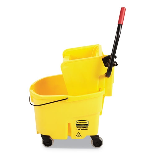 WaveBrake 2.0 Bucket/Wringer Combos, Side-Press, 26 qt, Plastic, Yellow