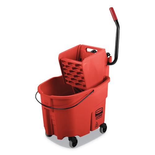 WaveBrake 2.0 Bucket/Wringer Combos, Side-Press, 35 qt, Plastic, Red