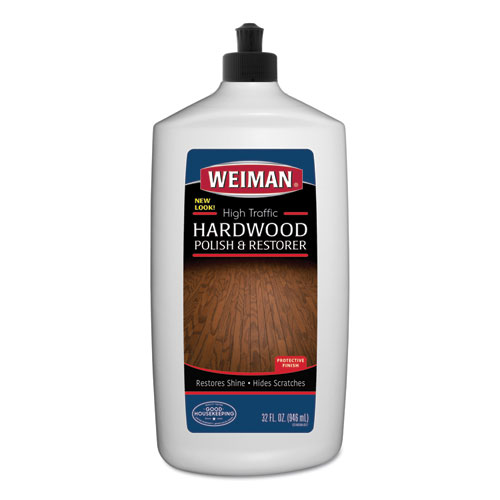 High Traffic Hardwood Polish and Restorer, 32 oz Squeeze Bottle