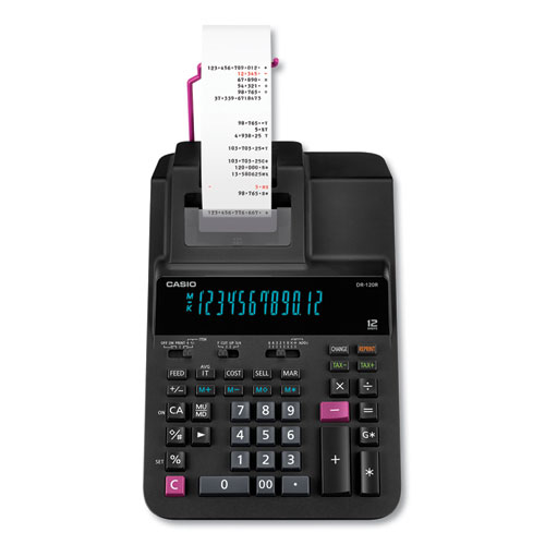 Casio® DR-120R Printing Calculator, 2 Print, 3.5 Lines/Sec